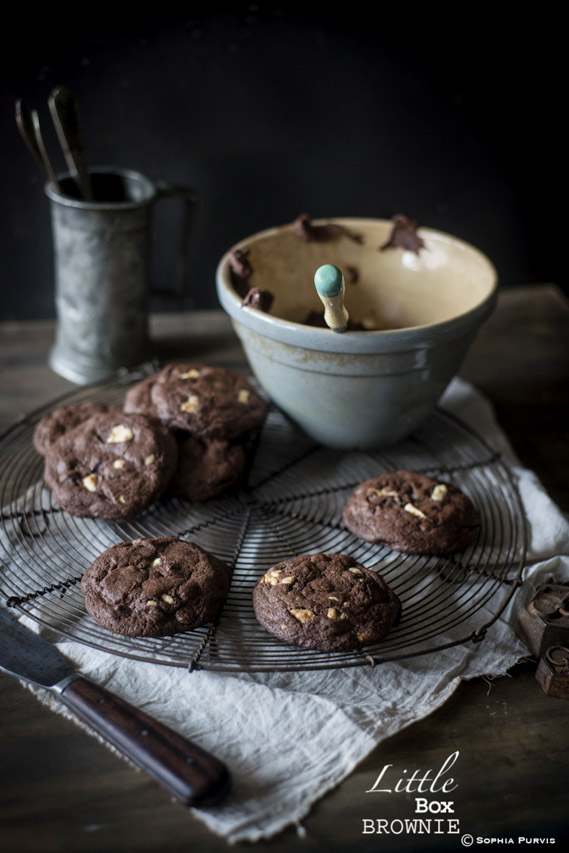Gooey Double Chocolate Chip Cookies